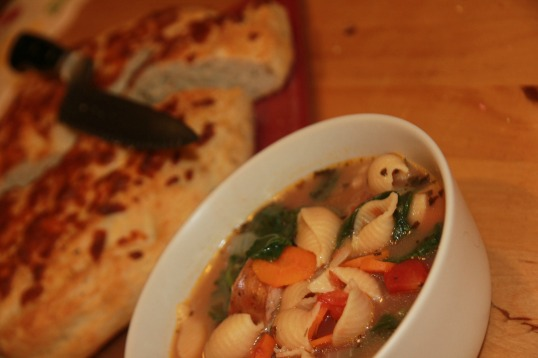 cf soup and bread